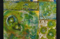 Encaustic Mosaic Green